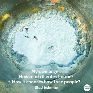 Quote from Shaul Judelman My own anger: How much does it votes for me? How it chooses how I see people?