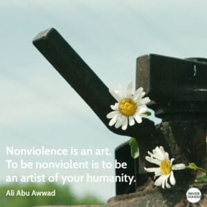 Quote from Ali Abu Awwad Nonviolence is an art. To be nonviolent is to be an artist of your humanity.