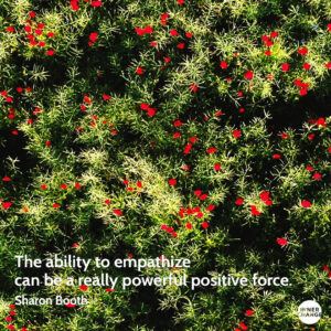 Quote from Sharon Booth The ability to empathize can be a really powerful positive force.
