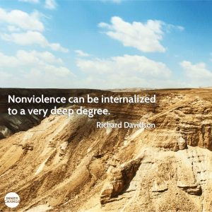 Quote from Richard Davidson Nonviolence can be internalized to a very deep degree.