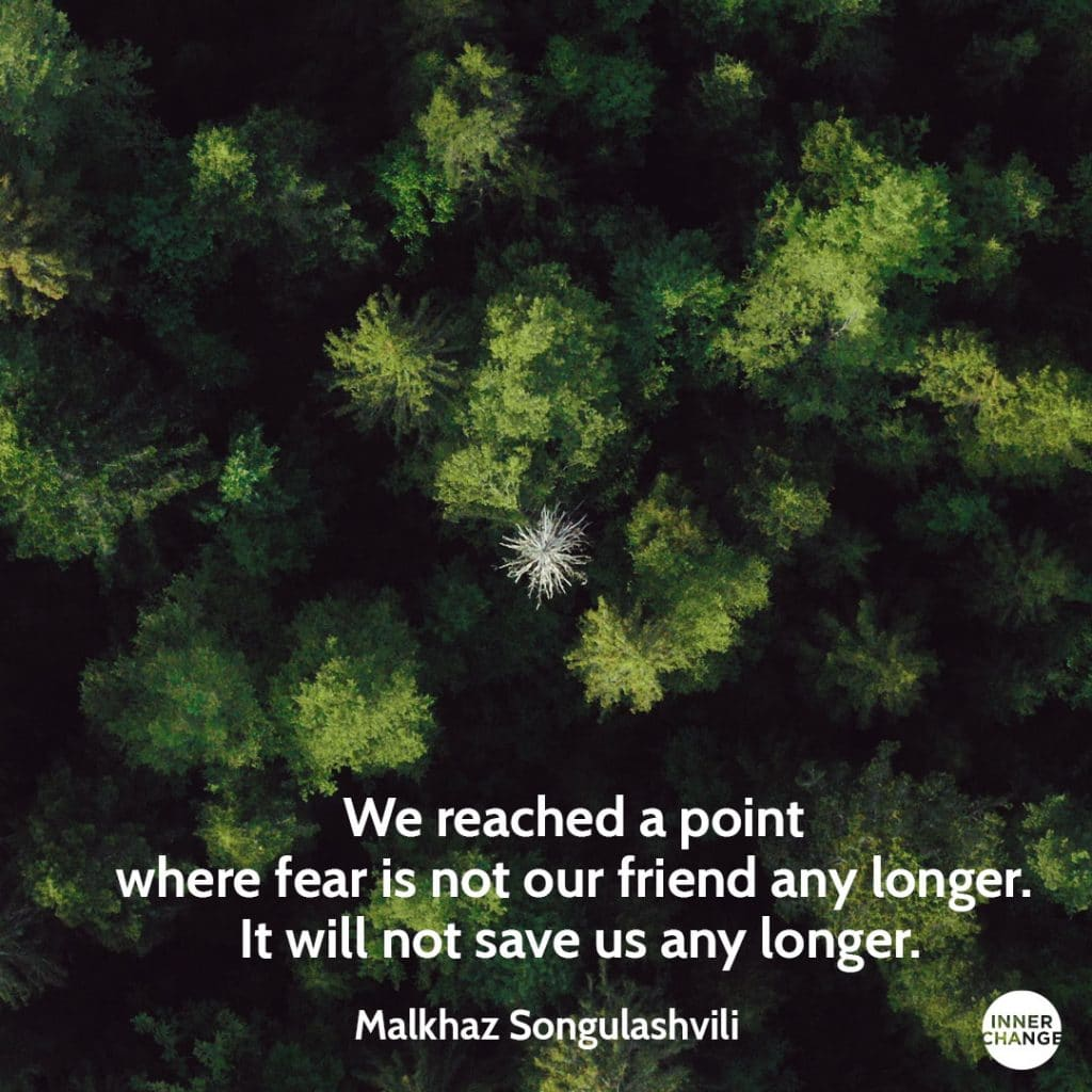 Quote from Malkhaz Songulashvili We reached a point where fear is not our friend any longer. It will not save us any longer.